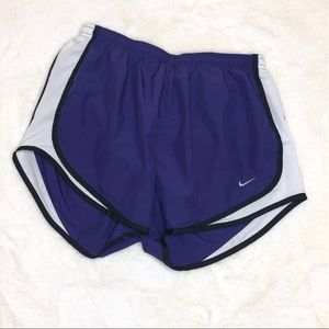 Nike Purple and White Track Shorts